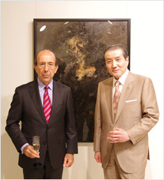 The Embassy of Spain in Japan. His Excellency the Spanish Ambassador, Mr. Gonzalo de Benito and Shigyo Sosyu, Director of Memorial Gallery of Toshima Yasumasa.